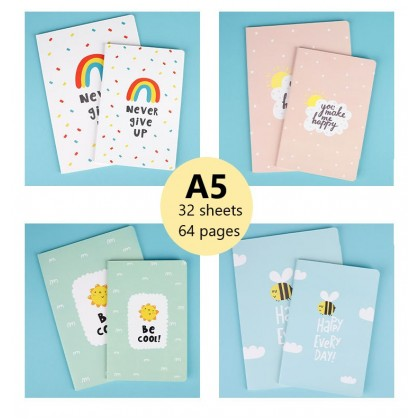 4pcs A5 Notebook Encouraging Quotes And Words Stationery Gift Ideas