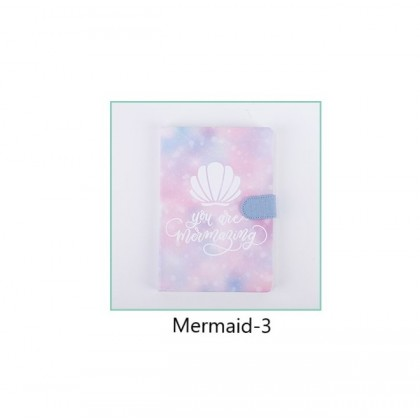 A5 Magnetic Clasp Notebook Journal Diary Mermaid ; Mermaid Tail Girls Notes Gift Ideas