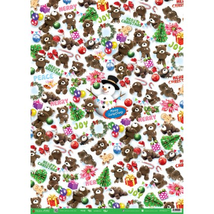 (Buy 10 Get 15pcs) Christmas Wrapping Paper ; Aeiou 2020 X'mas Gift Wrappers ; Quality Present Paper Design In Malaysia