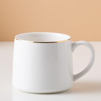 Nordic Style Gift Mug ; Fine Ceramic Grade High Quality 320ML Coffee / Milk Tea Cups with Simple Minimalist Color Design