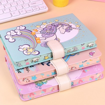 Hard Cover A5 Unicorn Magnetic Clasp Notebook Journal Diary Stationery Gift Ideas for School / Home / Office ; Buku Nota