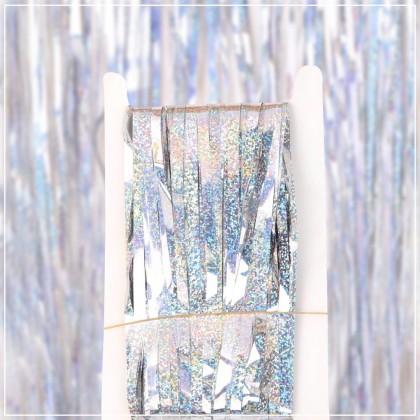 Laser Dots Multi Color Fringe Backdrop Rain Curtain ; Photography Metallic Tinsel Background Decoration ; Tirai Foil
