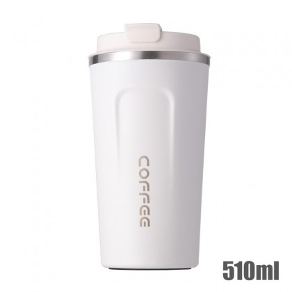 510ml Thermal Mug Stainless Steel Insulated Keep Warm Thermos Travel Flask Big Coffee Cup Office Tumbler w.Lid 真空咖啡保温杯