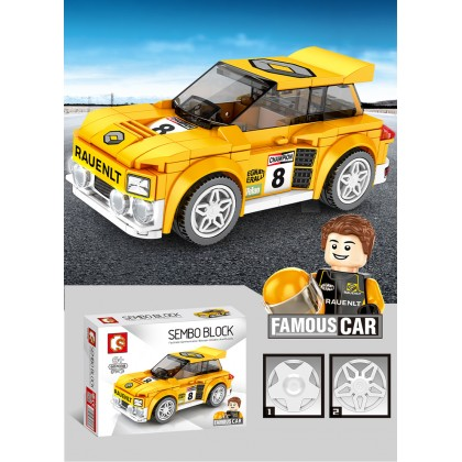 SEMBO 607038 Robot Racing Sport Car and Mini Figure Building Blocks ; Blok Binaan Kereta Lumba