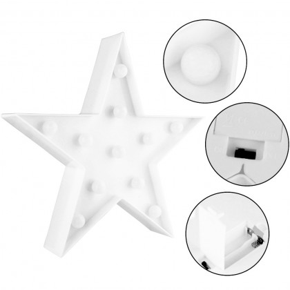 Blue Star Shape LED Decorative Warm Light, Party Decoration, Party Event Gifts